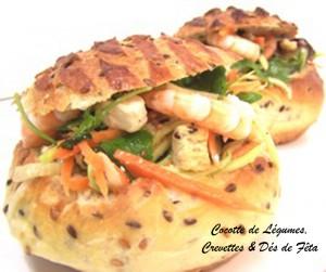 Cocotte de Légumes Crevettes et Fêta